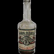 "Vintage ""York State"" Maple Syrup Bottle"