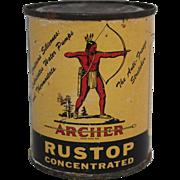 "Vintage ""Archer"" Rustop Litho Tin"