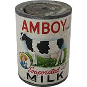 Vintage Amboy Evaporated Milk Can