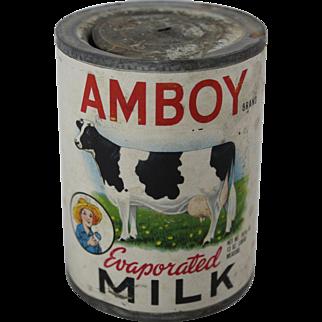 Vintage Amboy Evaporated Milk Can