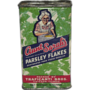 Aunt Sarah's Parsley Flakes Spice Tin