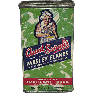 Aunt Sarah's Parsley Flakes Spice Tin