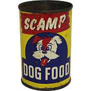 "Vintage ""Scamp"" Dog Food Can"