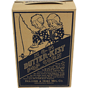 Vintage H & H Butter-Kist Pop Corn Box