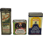 Three Assorted Vintage Spice Containers