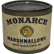 Vintage Monarch Marshmallows Tin