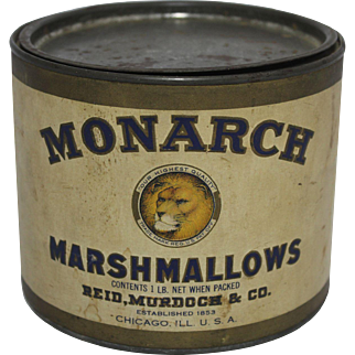 Vintage Monarch Marshmallows Tin