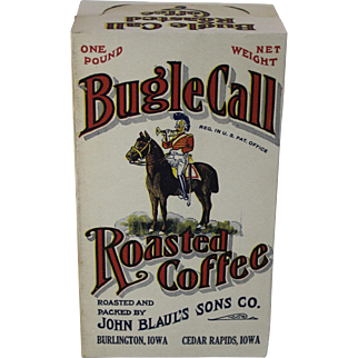 "Vintage ""Bugle Call"" Roasted Coffee Box"
