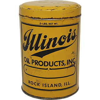 """Vintage """"Illinois Oil Products"""" Grease Can"""