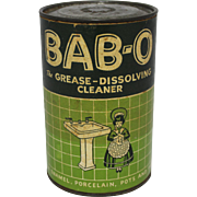 "Vintage ""BAB-O"" Cleanser Container"