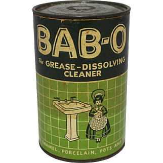 """Vintage """"BAB-O"""" Cleanser Container"""