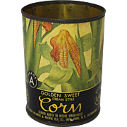 "Vintage A&P ""Golden Sweet Corn"" Tin Can"