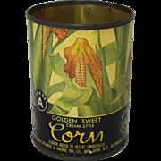 "Vintage A&P ""Golden Sweet Corn"" Tin Can"