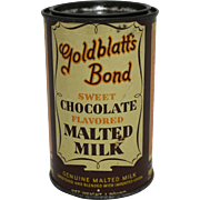 Goldblatt's Bond Chocolate Malted MIlk Tin