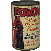 "Vintage Sample ""POWOW"" Cleanser Container"