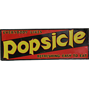 Vintage Embossed Tin Popsicle Sign