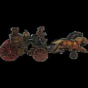 1890's Pratt & Letchworth Two Horse Drawn Fire Pumper