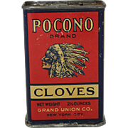 "Vintage ""Pocono"" Brand Spice Tin"