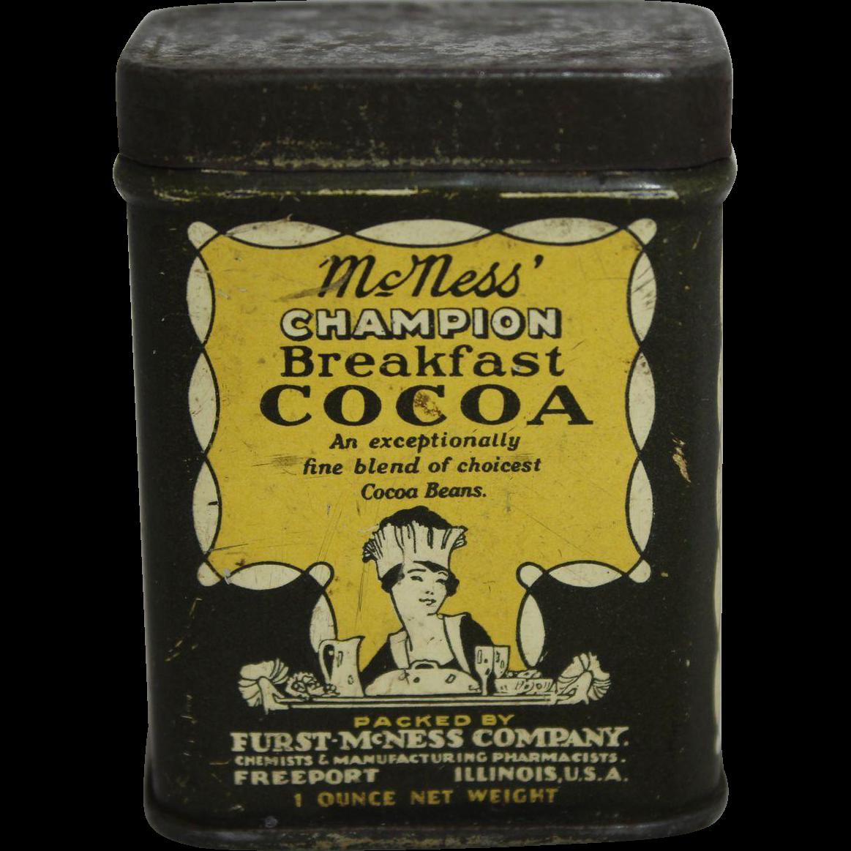 Very Small McNess Champion Breakfast Cocoa Tin