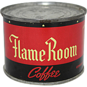 "Small 4 oz. ""Flame Room""  Unopened Coffee Tin"