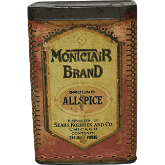 """Sears, Roebuck & Co. """"Montclair Brand"""" Spice Container"""
