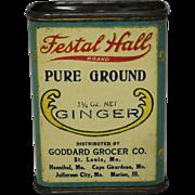 """Vintage """"Festal Hall"""" Ginger Spice Tin"""