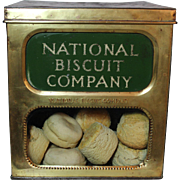 National Biscuit Company Metal/Brass Display Bin & Faux Biscuits