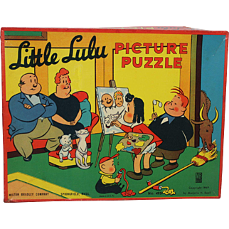 Early 1950's Little Lulu Picture Box & 3 Puzzles