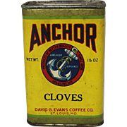 "Vintage ""Anchor"" Spice Container"