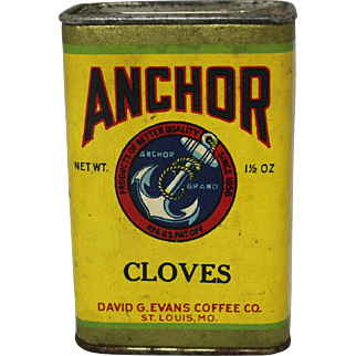 """Vintage """"Anchor"""" Spice Container"""