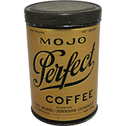 "1920's ""Mojo Perfect Coffee"" 1 lb. Tin"