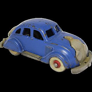 "Hubley 1935 Larger 6 1/4"" Chrysler Airflow Sedan"