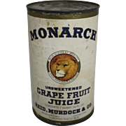 Monarch Unsweetened Grape Fruit Juice Can
