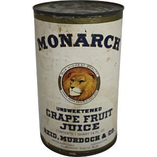Monarch Unsweetened Grape Fruit Juice Can