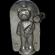 Vintage Teddy Bear With Christmas Tree Chocolate Mold