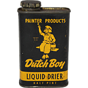 "Vintage ""Dutch Boy"" Liquid Drier Litho Tin"