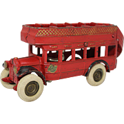 "Arcade 8"" Cast Iron Double-Deck Coach Bus"