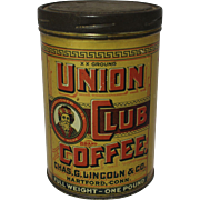 Vintage Union Club Coffee Tin