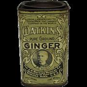 "Vintage ""Watkins"" Ginger Spice Tin"