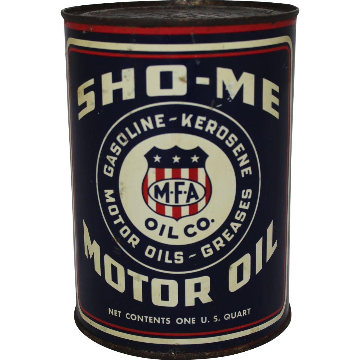 Vintage 1 Qt Unopened Sho Me Motor Oil Can From