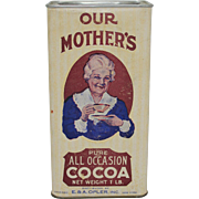 "Vintage ""Our Mother's"" 1 lb. Cocoa Container"