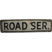 "Vintage Automotive ""Road Ser."" (Service) Metal Sign"