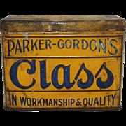 "Vintage Parker-Gordon ""Class"" Tobacco Tin"