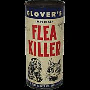 "Vintage ""Clovers"" Flea Killer Container"