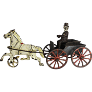 """Rare """"Harris Toy Company"""" Horse Drawn Doctor's Buggy"""