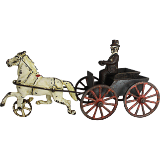 "Rare ""Harris Toy Company"" Horse Drawn Doctor's Buggy"