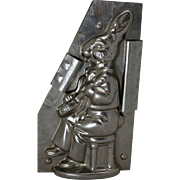 Vintage Bunny With Banjo Chocolate Mold