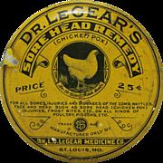 Dr. LeGears Sore Head (Chicken Pox) Remedy Tin