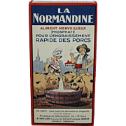 "Vintage (La) Normandine"" Phosphate Food for Pigs (Box)."