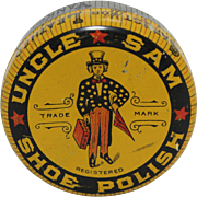 "Vintage ""Uncle Sam Shoe Polish"" Tin"